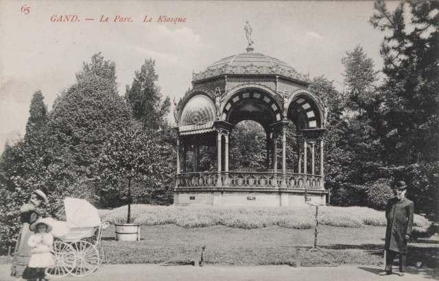 Citadelpark kiosk uit de De Zwarte Doos, Stadsarchief Gent 1907